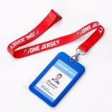 관례에 의하여 인쇄되는 목 결박 염료 승화 ID 카드 방아 끈