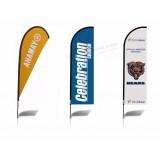 アルミニウムポール、ナイフフラグ卸売屋外広告広告飛行涙ドロップバナーフラグカスタムとカスタム羽毛フラグ