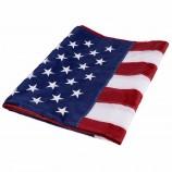 고품질 디럭스 긴 지속 3x5ft 사용자 정의 210d 나일론 미국 자수 별 수 놓은 줄무늬 미국 미국 국기