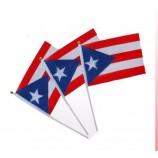 プエルトリコの手旗を振るカスタマイズされた14 x 21cmすべての国
