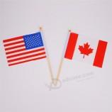 저렴 한 미국 손 깃발