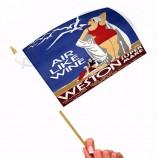 屋外の昇進は手の波の旗、プラスチックプロモーション手旗を広告します