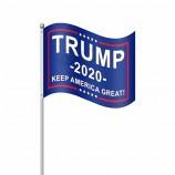 트럼프 투표 2020를위한 주문 크기 로고 손 깃발