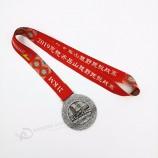 カスタム昇華印刷ストラップスポーツデザイン金属メダル
