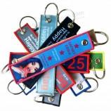 custom personality embroidered keychain remove flight key ring monogram flight car fabric luggage key tags