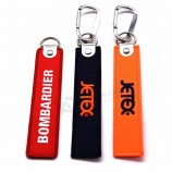 creative promotional souvenir woven embroidery logo fabric Key chains