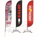 outdoor beach banner feather teardrop floor wind flag stand
