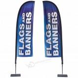 high quality custom logo 4.5m feather beach flag banner