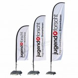 Hot selling portable custom outdoor feather advertising beach flag