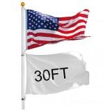 屋外旗ポールフラグスタンド16ft 20ft 25ft 30ftアルミ伸縮ポール高品質フレキシブル