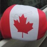 подгонянный фабрикой флаг спандекса рекламируя флаг крышки зеркала автомобиля Канады