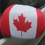 工場カスタマイズされたスパンデックスフラグ広告カナダ車ミラーカバーフラグ