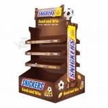 изготовленная на заказ стойка дисплея шоколада картона гофрированного печатания цвета складная