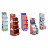 POPのボール紙の製品の荷送人の表示、注文のボール紙の表示棚の棚、ボール紙のカートンのペーパー床の陳列台