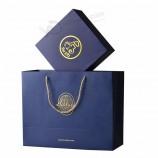 подгонянная конструкция роскошная золотая фольга напечатала изготовленную на заказ бумажную сумку подарка