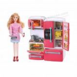 遊ぶ家のための台所遊びセットが付いているかわいいBOの子供の人形のおもちゃ