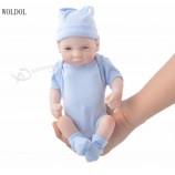 10 인치 24 센치 메터 수제 다시 태어난 신생아 인형 전체 비닐 실리콘 아기 소녀 인형 생일 선물 아기 인형