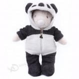 귀여운 & 아늑한 새로운 디자인 팬더 옷을 가진 곰 인형은 동물성 견면 벨벳 장난감을 주문을 받아서 만들었습니다