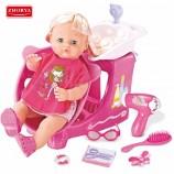 Шампунь электрический воздуховод устанавливает 16 дюймов куклы игрушки для девочек для детей