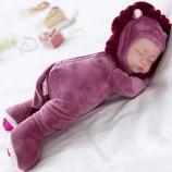 시뮬레이터 다시 태어난 잠자는 아기 인형 토끼 귀여운 동물 과일 디자인 소녀 상호 작용 교육 장난감 사랑스러운 아기 인형