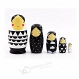 러시아어 빈 마트 료 인형 장난감 나무 중첩 인형 공예 장난감 어린이 생일 선물