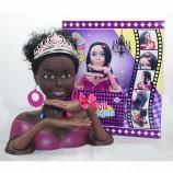 プラスチック新製品美しいアフリカのドレスアップ女の子のためのおもちゃの人形の頭