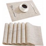 Горячая распродажа настольный коврик Набор из 6 жаропрочных нескользящих водонепроницаемых салфеток, коври