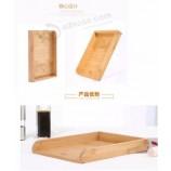 竹木製餃子トレイキッチン収納ボックスは複数の層で積み重ねることができます