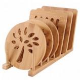 カスタマイズされた多機能キッチン滑り止めプレースマットコースター、ポット/ボウル/プレート/カップ用の厚くされた耐熱竹テーブルマット