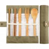 H81 6 шт. Наборы многоразовые открытый портативный посуда с вращающейся сумкой столовые приборы экологически