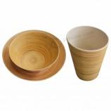Экологически чистые наборы посуды из бамбука и меламина