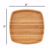 도매 파티 또는 피크닉 사용 재사용 2 포크 나이프 숟가락 천연 대나무 식탁 + 세트