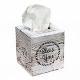 家の装飾素朴な白いフクロウのトーチはあなたにティッシュボックスカバーを祝福します