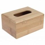 高品質の厚い竹のティッシュボックスナプキンホルダーティッシュボックスカスタム製
