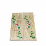プロの簡単な竹の角巻き寿司マット