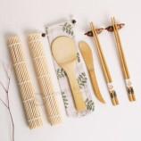 대나무 초밥 롤러 키트 및 젓가락 서빙 세트 도매