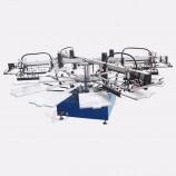 工業用cncデジタル4色ロータリーカルーセルロールツーロールuvテキスタイルtシャツ全自動シルクスクリーン印刷機価格
