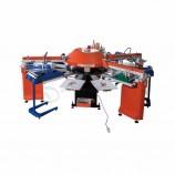 SPG-156 / 10 6色10ステーション自動Tシャツ/衣服シルクスクリーン印刷装置