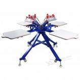 4 цвета 4 станции ручной шелкотрафаретной печати машина со складным дизайном ног для DIY футболки ткани печатн