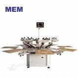 ZB-8 высококачественная 8 станция полуавтоматическая ротационная футболка для шелкографии