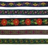 DIY 수제 레이스 농촌 스타일의 미세한 작은 꽃 민족 리본