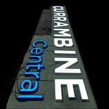 индивидуальные рекламные 3D акриловые светодиодные буквы на передней панели для вывесок