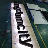 バックライト付き金属文字の広告は光で3 D金属文字に署名します。