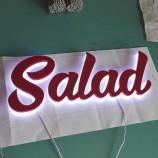 производитель поставляет вакуумное формование с подсветкой 3D акриловые рекламные вывески с буквенным логот