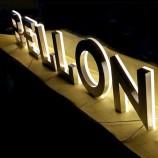 рекламный знак из нержавеющей стали с подсветкой на открытом воздухе 3D светодиодный канал буквенный знак дл