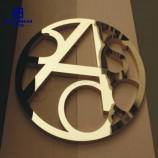 屋外広告ステンレス鋼チャンネル文字3Dロゴ