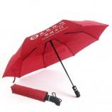 Банк Дунгуань 21-дюймовый автоматический трехкратный рекламный зонт