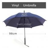 비용 효과적인 판촉 광고 비닐-태양 우산 UV 골프 우산