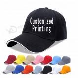 로고를 가진 야구 모자 스포츠 모자를 광고하는 주문 아빠 모자