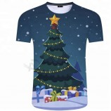 메리 크리스마스 선물 창의력 동창회 파티 짧은 소매 그룹 의류 광고 셔츠 사용자 정의 인쇄 그래픽 티셔츠
